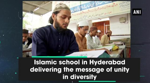 Islamic school in Hyderabad delivering the message of unity in diversity
