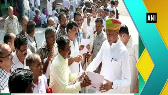 CM Gehlot hears grievances of public during Jansunwai