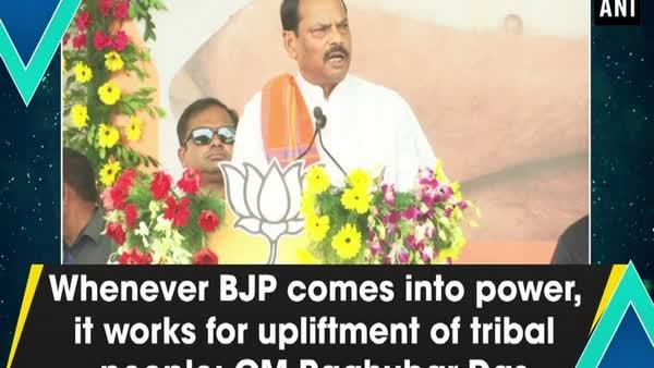 Whenever BJP comes into power, it works for upliftment of tribal people: CM Raghubar Das