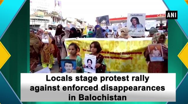 Locals stage protest rally against enforced disappearances in Balochistan