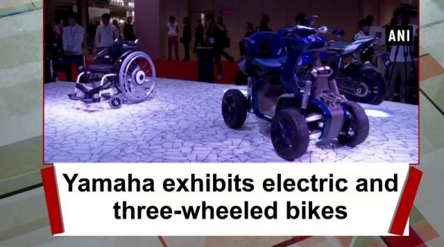 Yamaha exhibits electric and three-wheeled bikes
