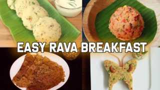 4 Easy Rava Breakfast