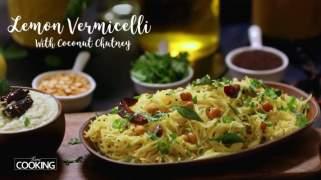 Lemon Vermicelli With Coconut Chutney