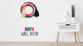 Rope Wall Decor  DIY Wall Hanging  Best out of Waste