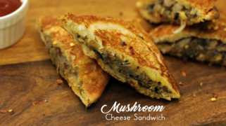 Mushroom Cheese Sandwich