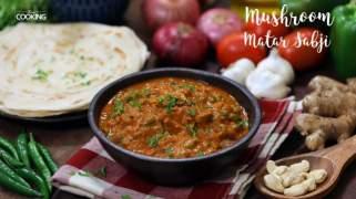 Mushroom Matar Sabji