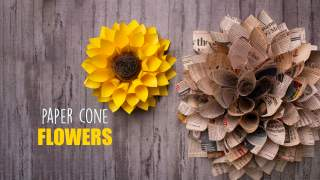 2 Easy Paper Flowers  Home Decor  Wall decor
