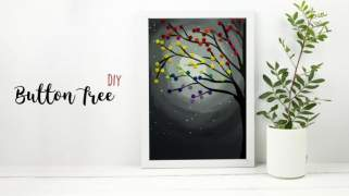 DIY Button Tree  Wall Hanging Craft Ideas  Home Decor