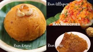 Rava Recipes  Rava Uttapam  Rava Dosa  Bread Rava Kesari