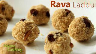 Quick Rava Laddu  Sweet