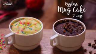 Eggless Mug Cake 2 Ways