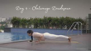 Day 4 - Chaturanga Dandasana  Fifteen days of Yoga for Beginners