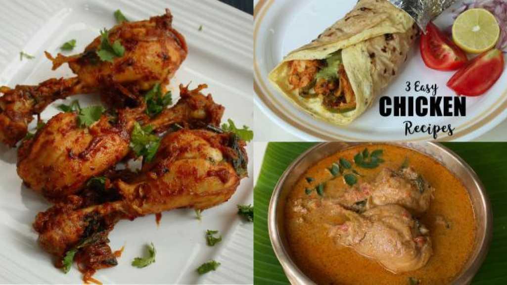 3 Easy Chicken Recipes