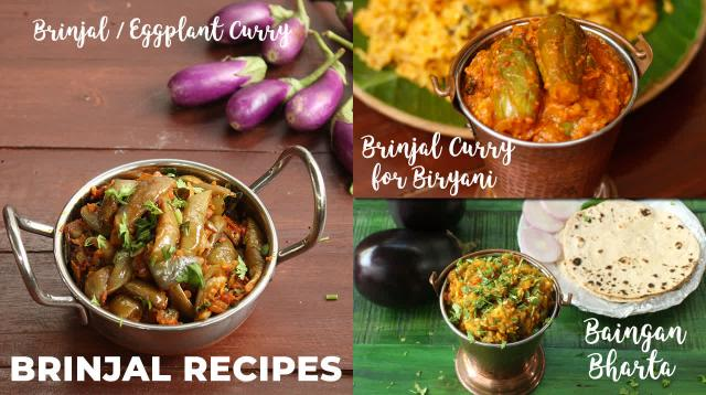 Brinjal Recipes  Baingan Bharta  Brinjal Curry  Brinjal Curry For Biryani
