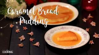Caramel Bread Pudding  No-Oven  No-Egg  Custard Bread Pudding
