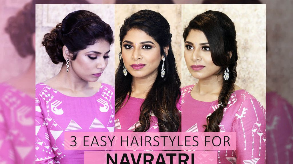 3 Easy Hairstyles for Navratri