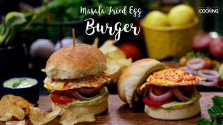 Masala Fried Egg Burger