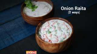 Onion Raita - 2 Ways