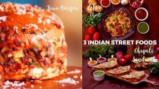 3 Indian Street food  Chapati Sandwich Tawa Burger  Aloo Chaat
