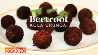Beetroot Kola Urundai  Vegan snacks