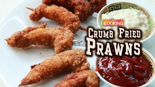 Crumb Fried Prawns