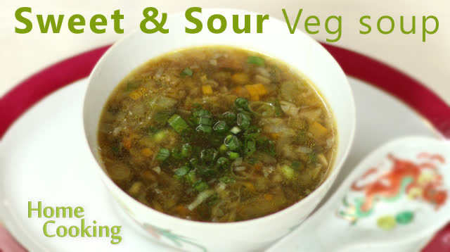 Sweet & Sour Veg soup