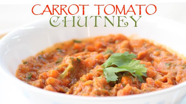 Carrot tomato chutney