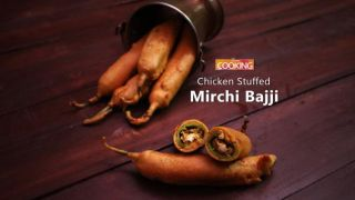 Chicken Stuffed Mirchi Bajji