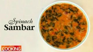 South Indian Spinach Sambar  Veg
