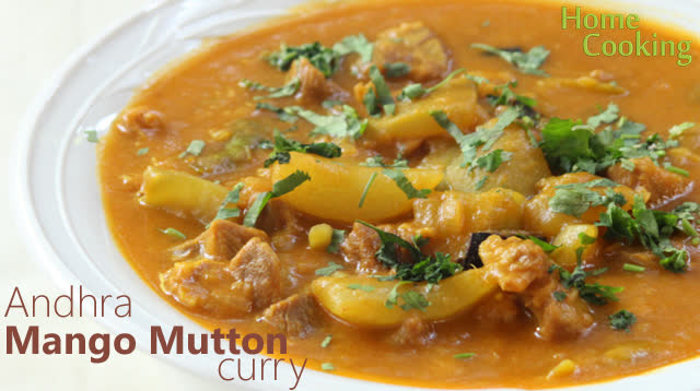 Andhra Mango Mutton curry