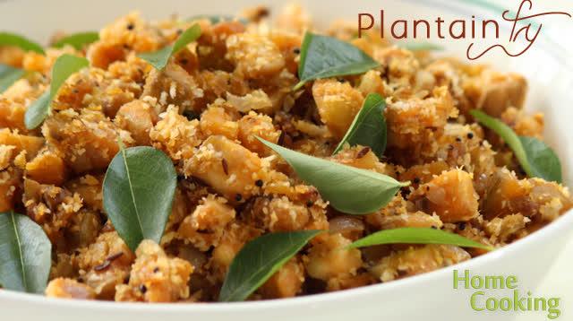 Plantain fry (Vazhakkai poriyal)