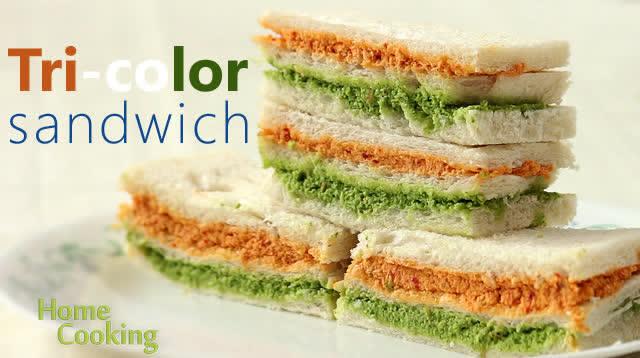 Tri-color sandwich