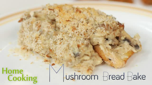 Mushroom Bread bake
