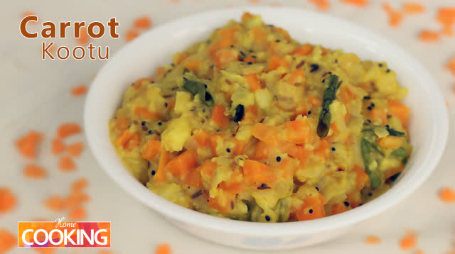 South Indian style - Carrot Kootu (Carrot Dal Gravy)