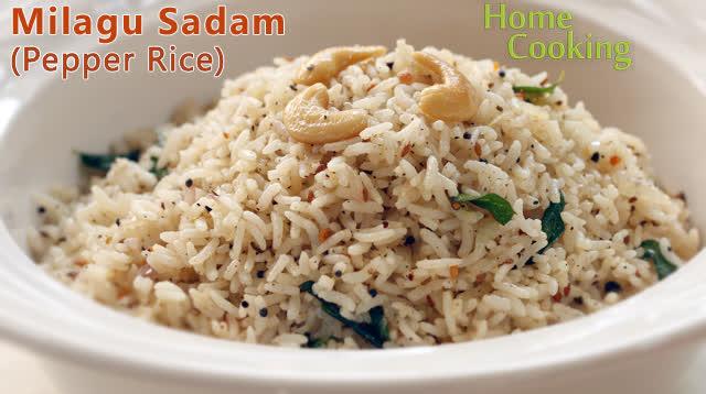 Milagu Sadam (Pepper Rice)