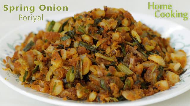 Spring Onion Poriyal