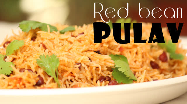 Red bean pulav