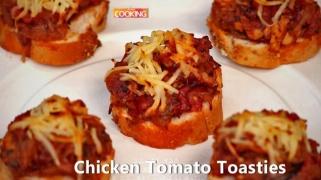 Chicken Tomato Toasties