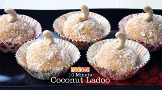 10 Minute Coconut Ladoo