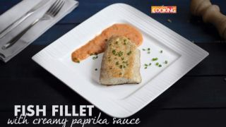 Fish Fillet with Creamy Paprika Sauce